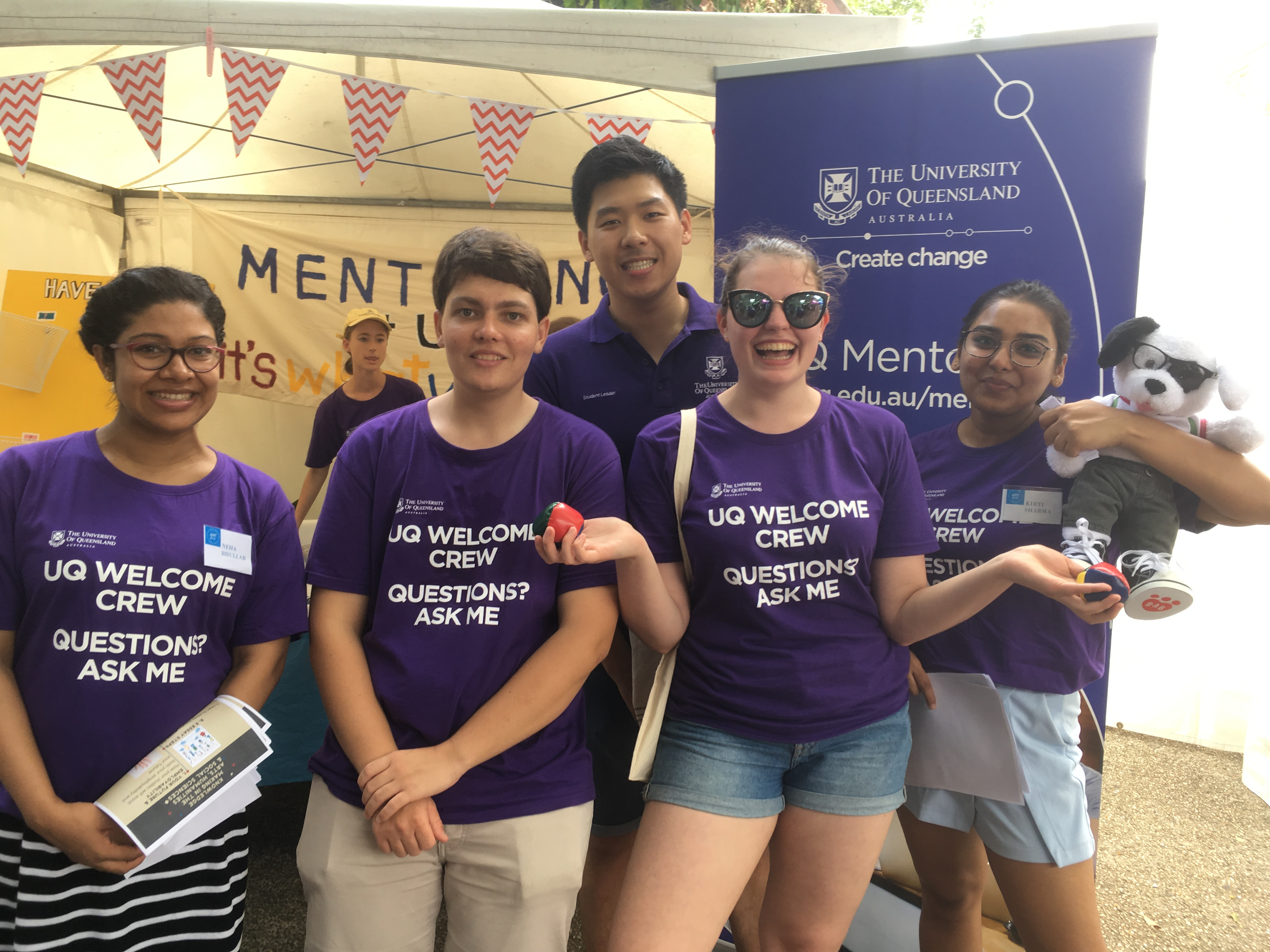 HASS volunteers at the Mentoring stall