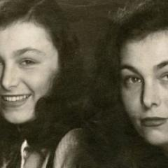 Austrian writer Ilse Aichinger with her twin sister Helga Aichinger