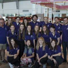 UQ journalism students at Brisbane airport