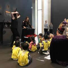 Witches performance at UQ Art Museum