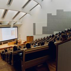 Large tiered lecture hall